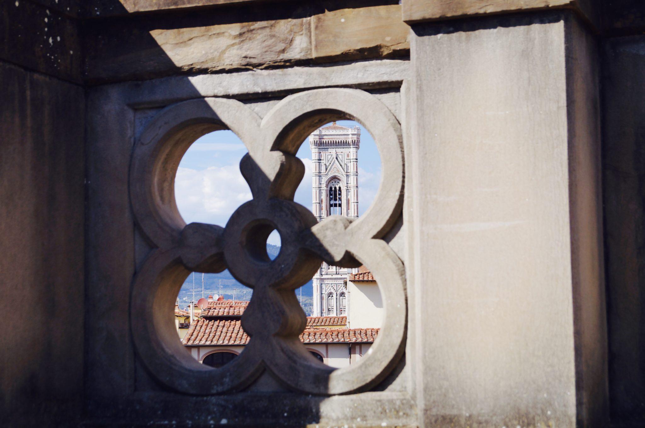 Vue depuis la terrasse de la Galerie des Offices