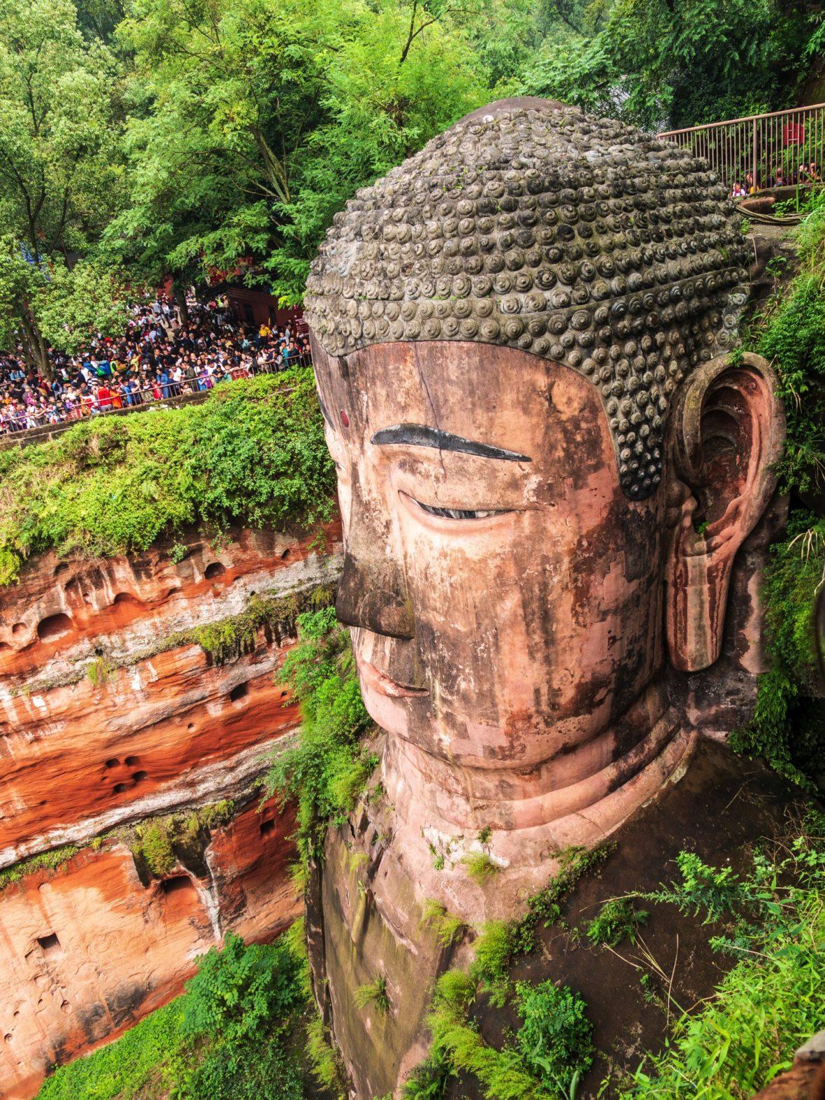 Un bouddha géant à Leshan