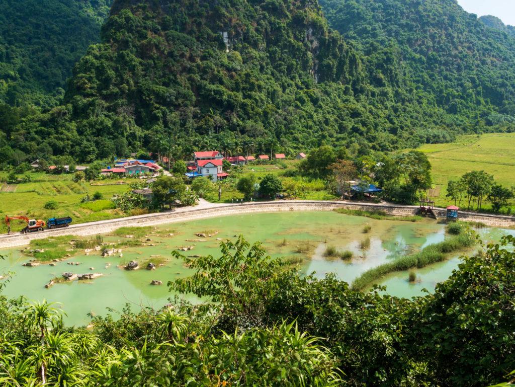 La vue sur le village Viet Hai