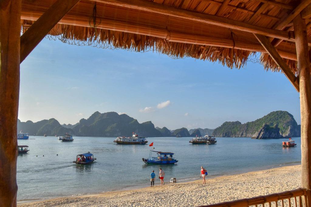 La vue du bar de la plage