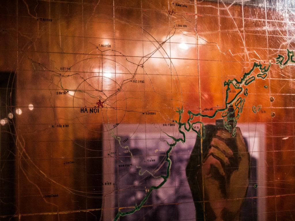 Une carte des opérations utilisée par le haut-commandement Nord-Vietnamient