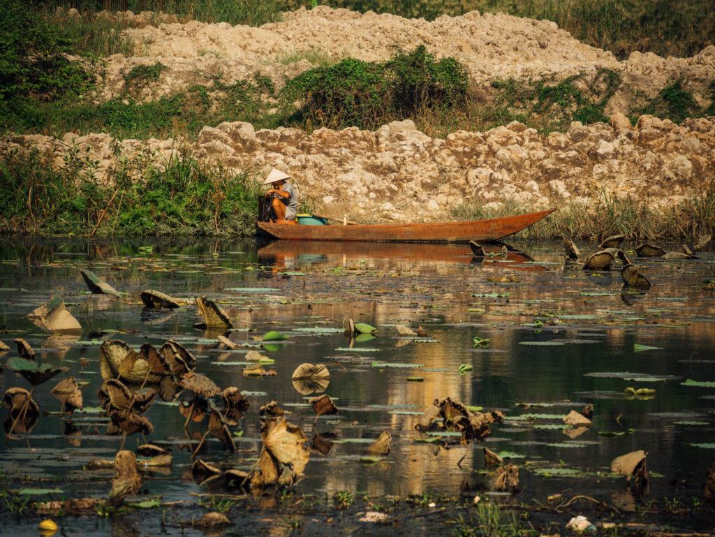 Une des nombreuses barques de Ninh Binh