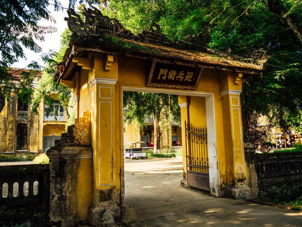 Une porte à l'intérieur de la citadelle