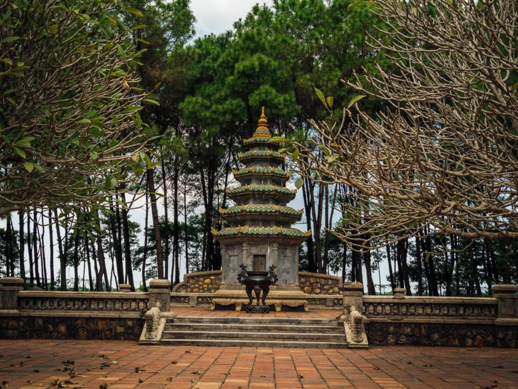 A l'arrière de la pagode
