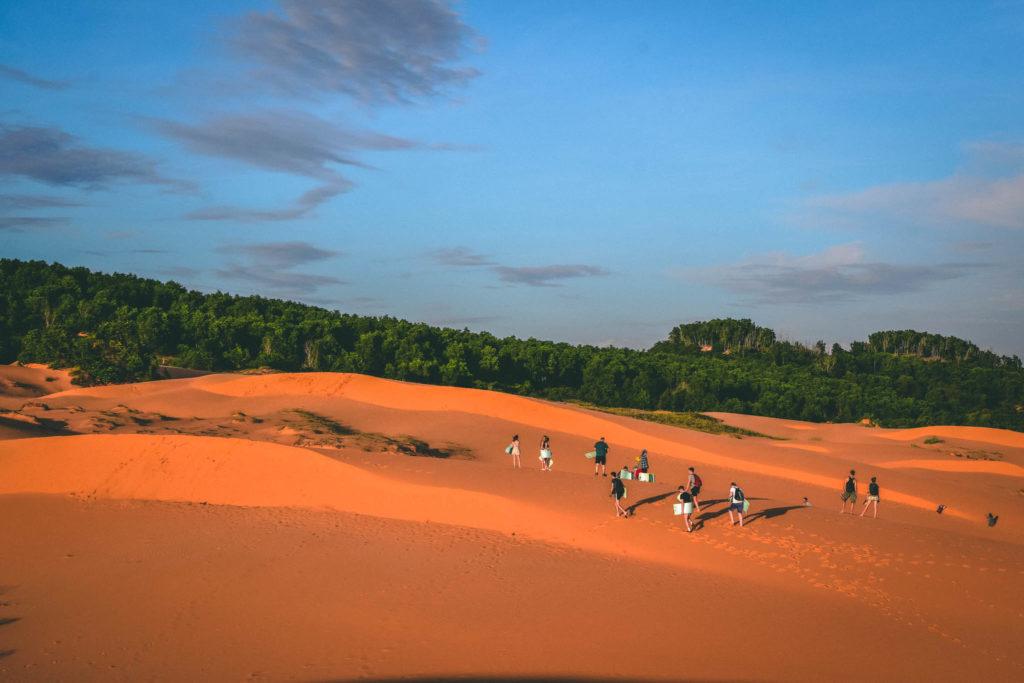 Les dunes rouges