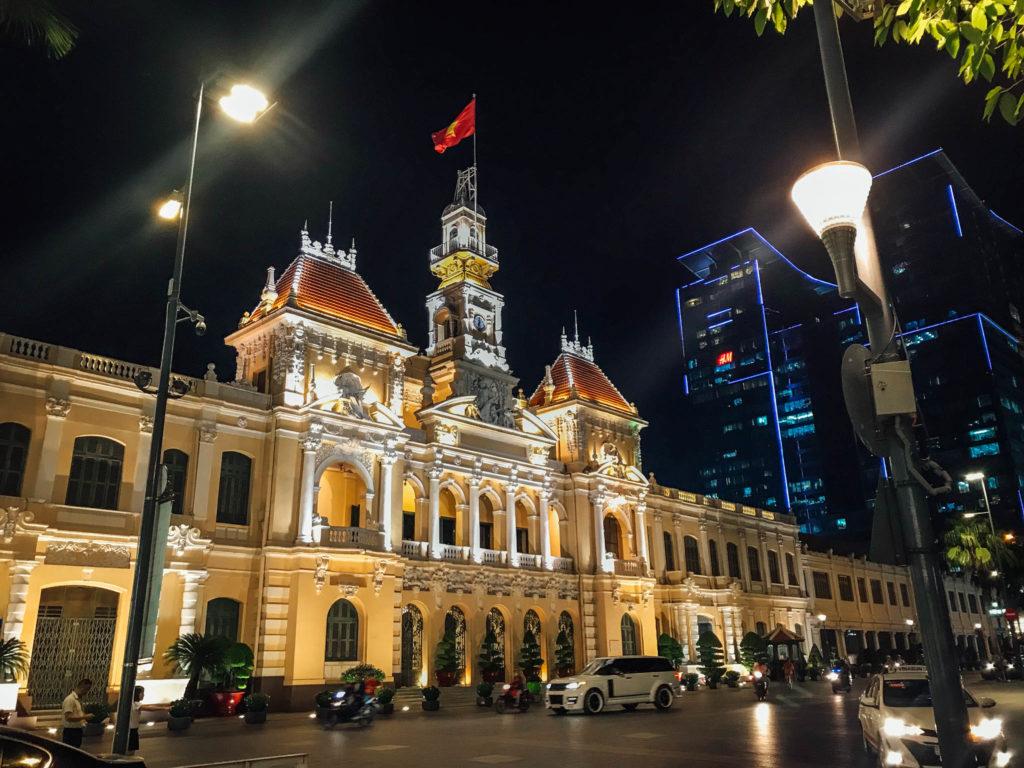 L'hôtel de ville d'Ho-Chi-Minh