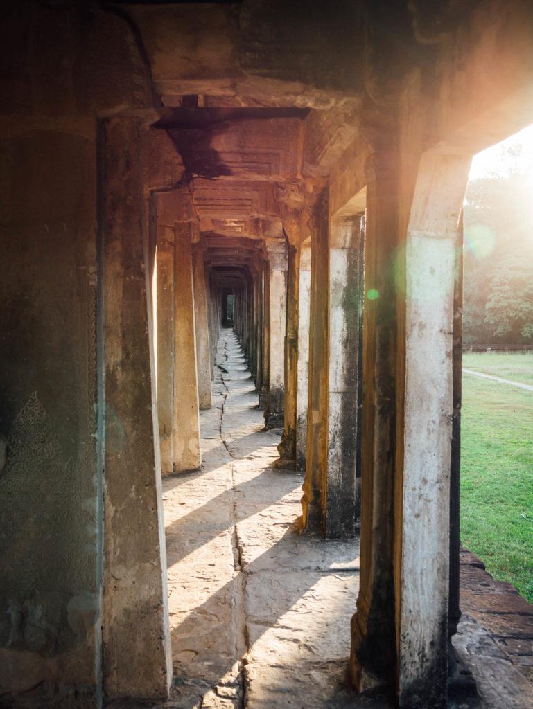Une lumière incroyable dans Angkor Vat