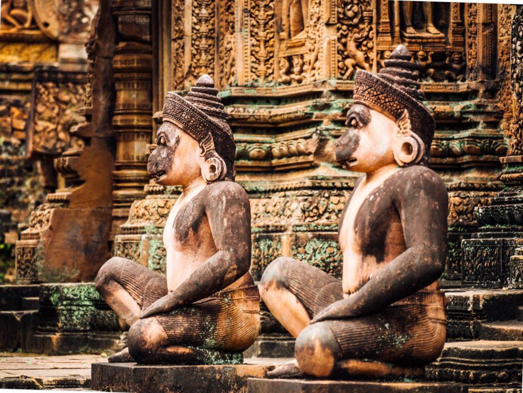 Les gardiens du Banteay Srei