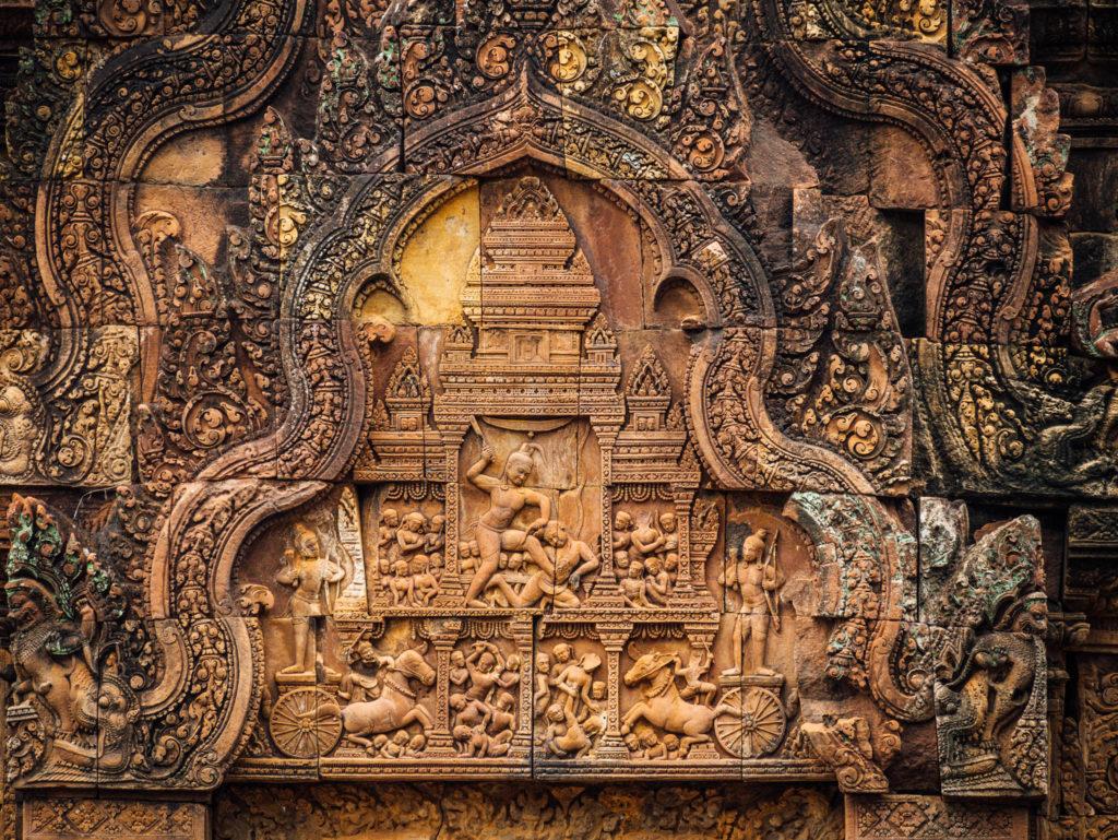 Les détails du temple Banteay Srei