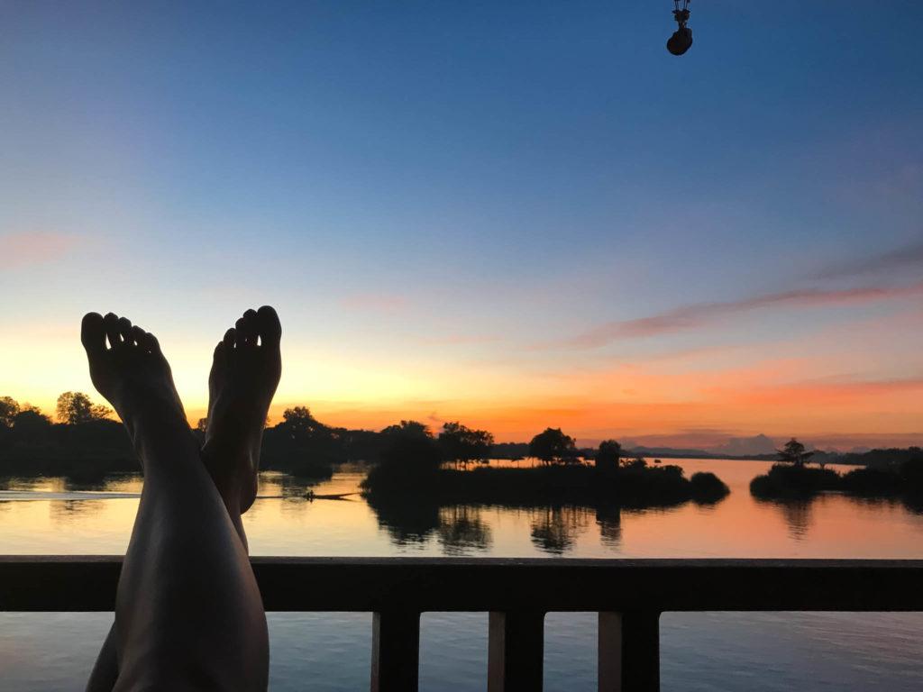 Un autre coucher de soleil sur les 4000 îles