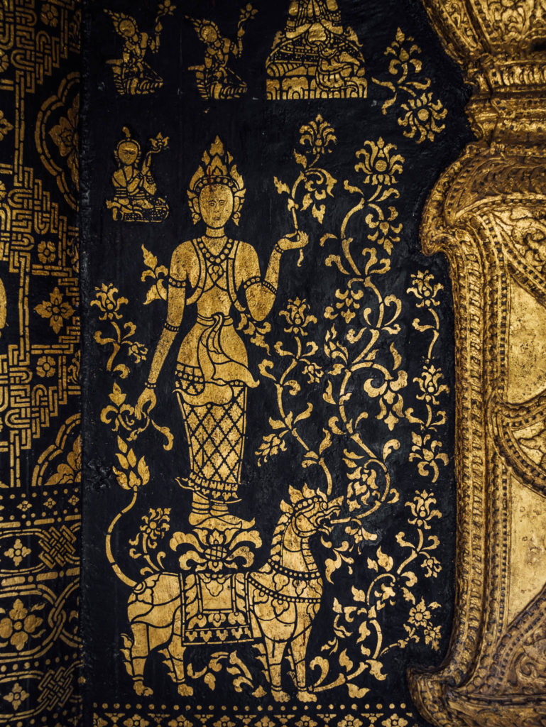 Les décorations sur les murs d'un temple