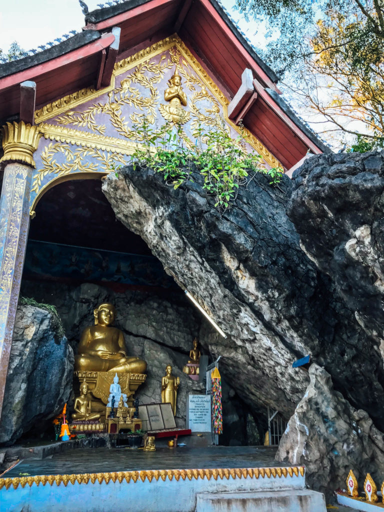 Le bouddha en haut de la Phou Si mountain