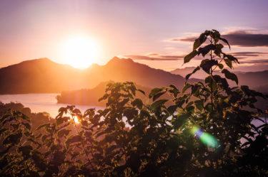 Coucher de soleil depuis la Phou Si mountain