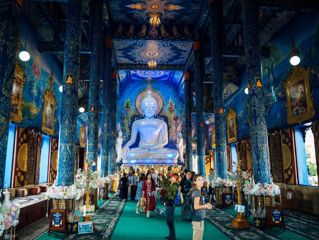 L'intérieur du temple bleu