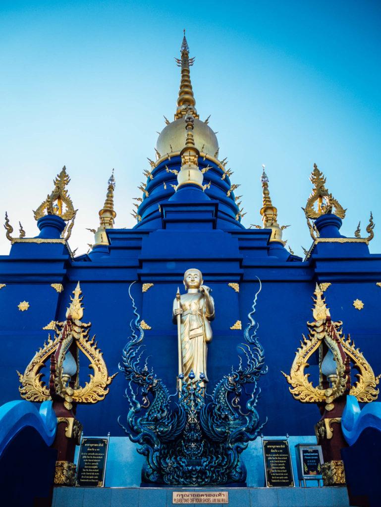 A l'arrière du temple