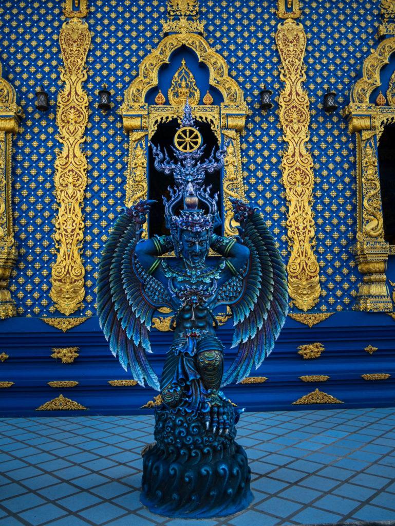 Une statue du temple
