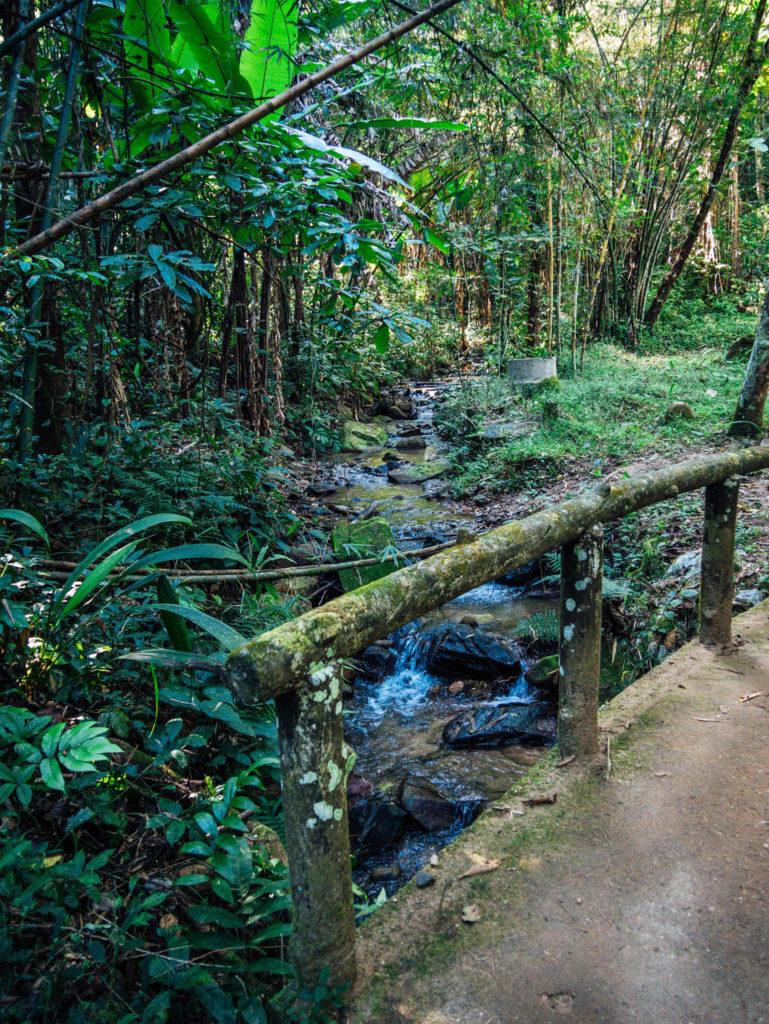 La randonnée pour nous rendre à la cascade