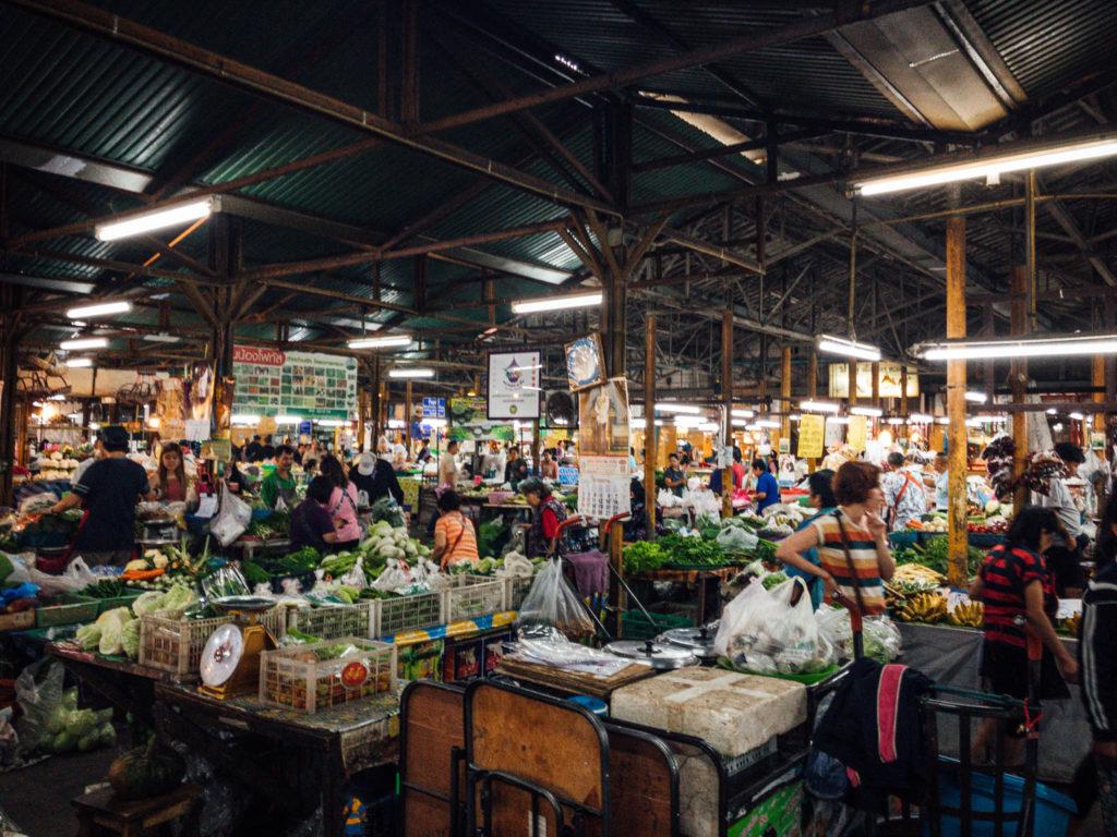 Le marché où nous avons fait nos courses