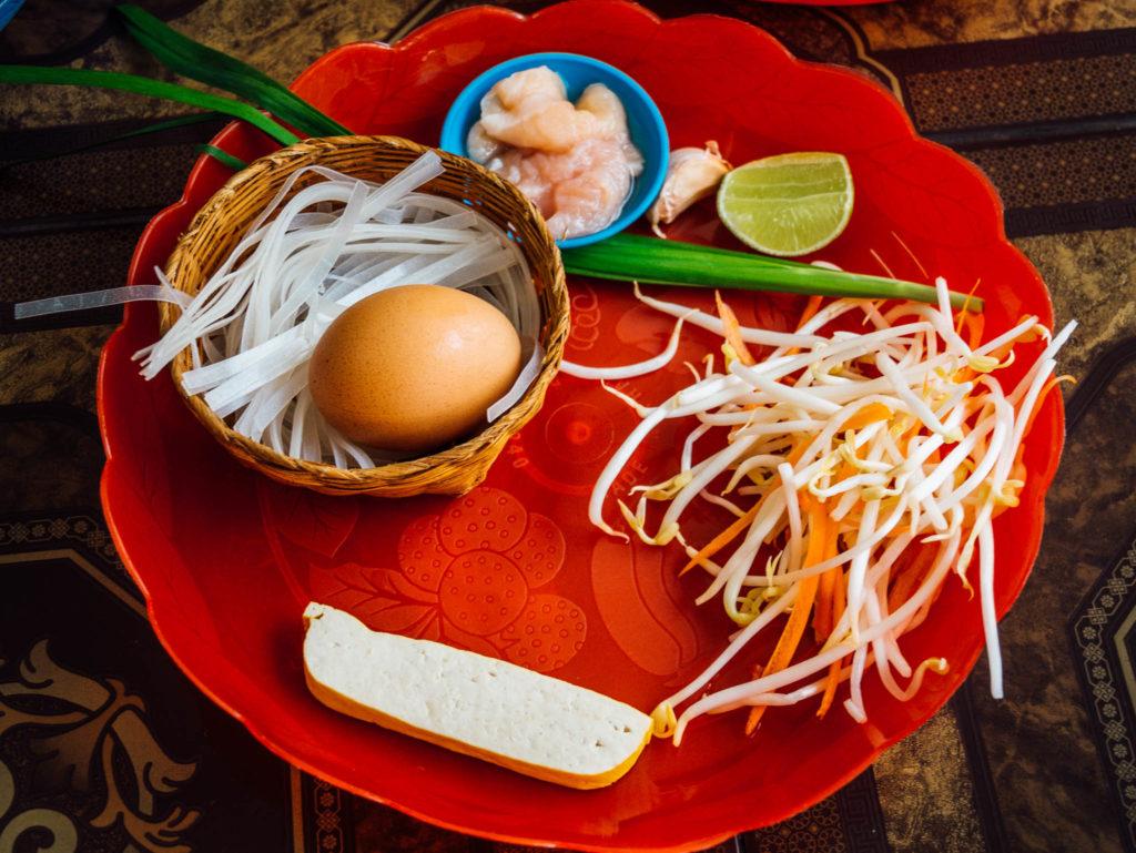 Les ingrédients du pad thaï