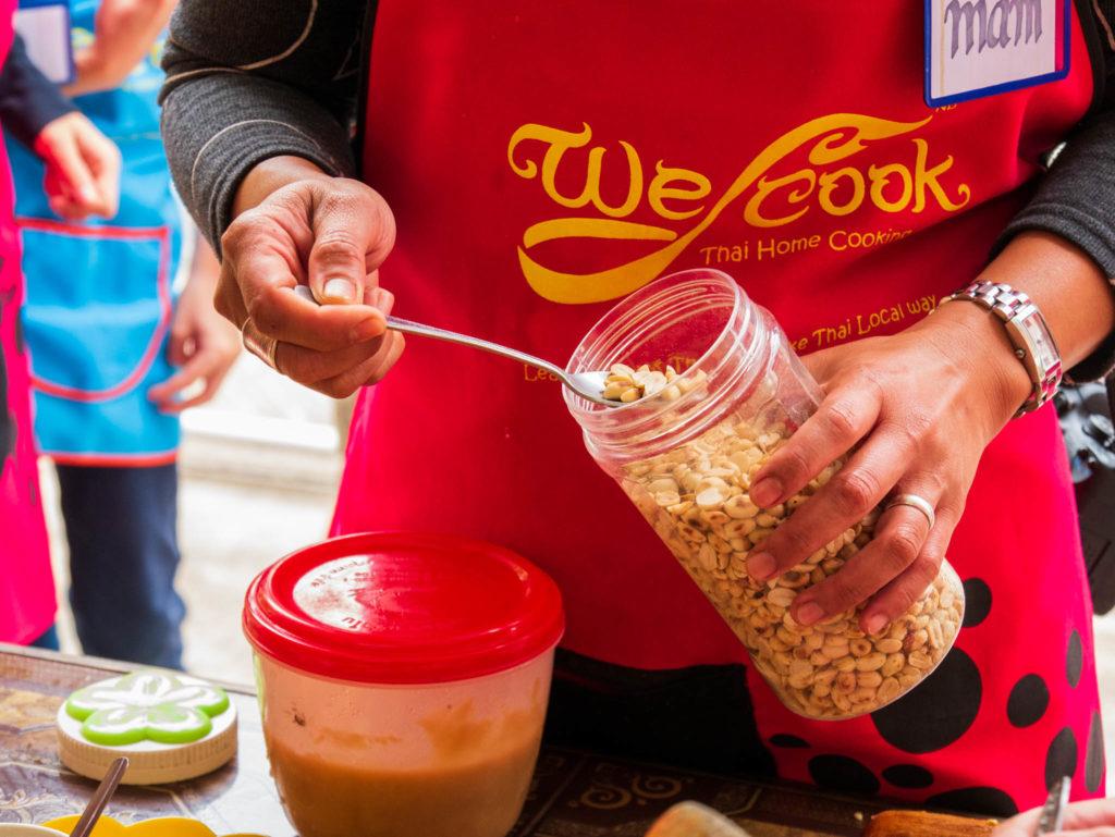 Les cacahouettes pour le pad thaï