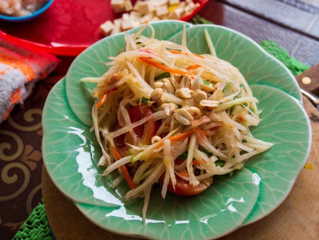 La papaya salade