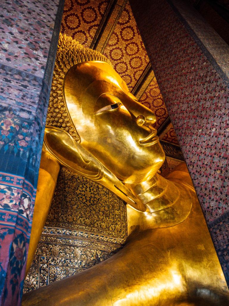La tête du bouddha géant