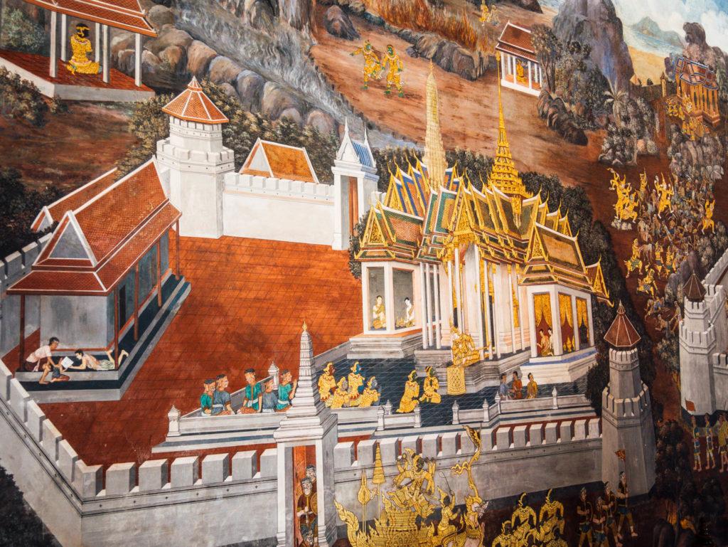 Des fresques dans le grand palais