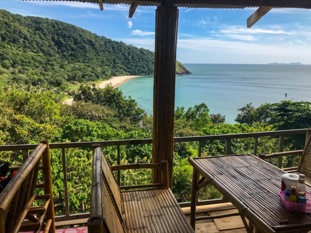 Vue depuis le restaurant sur Bamboo beach