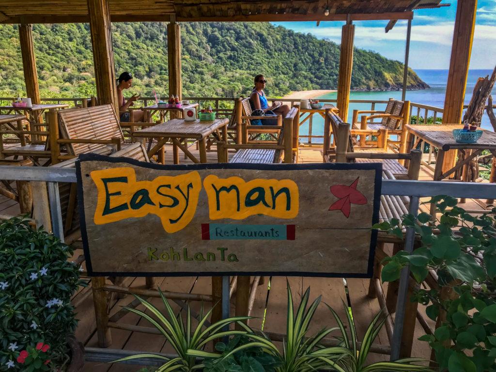 Easy man, le restaurant avec vue sur Bamboo beach