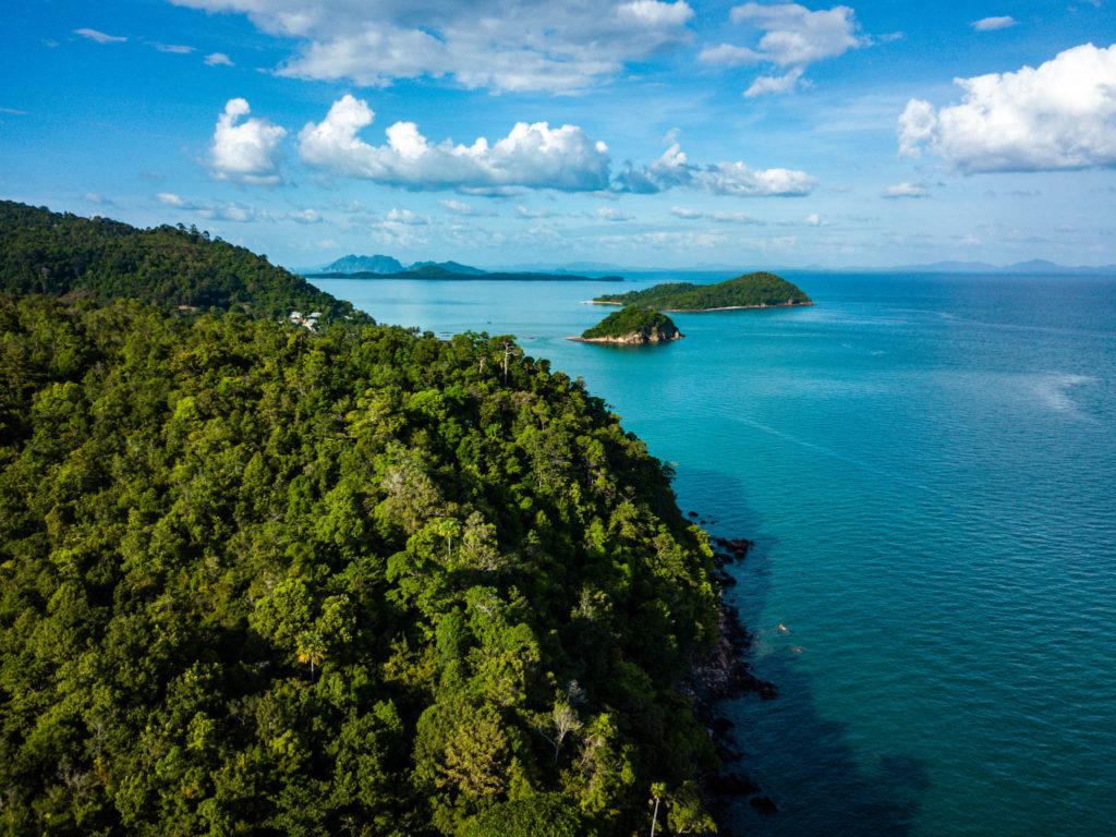 Koh Lanta, côte est vue du ciel