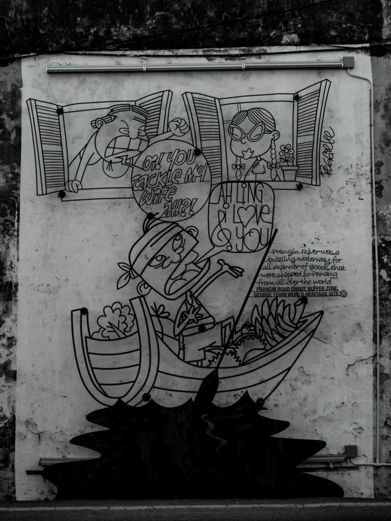 Une des fresques de la ville