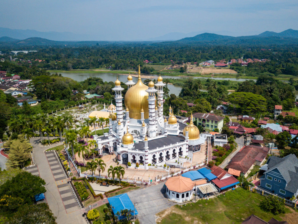 La mosquée Ubudiah vue du ciel