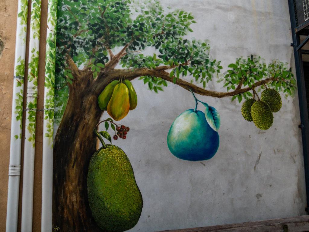 Le fameux durian, fruit asiatique