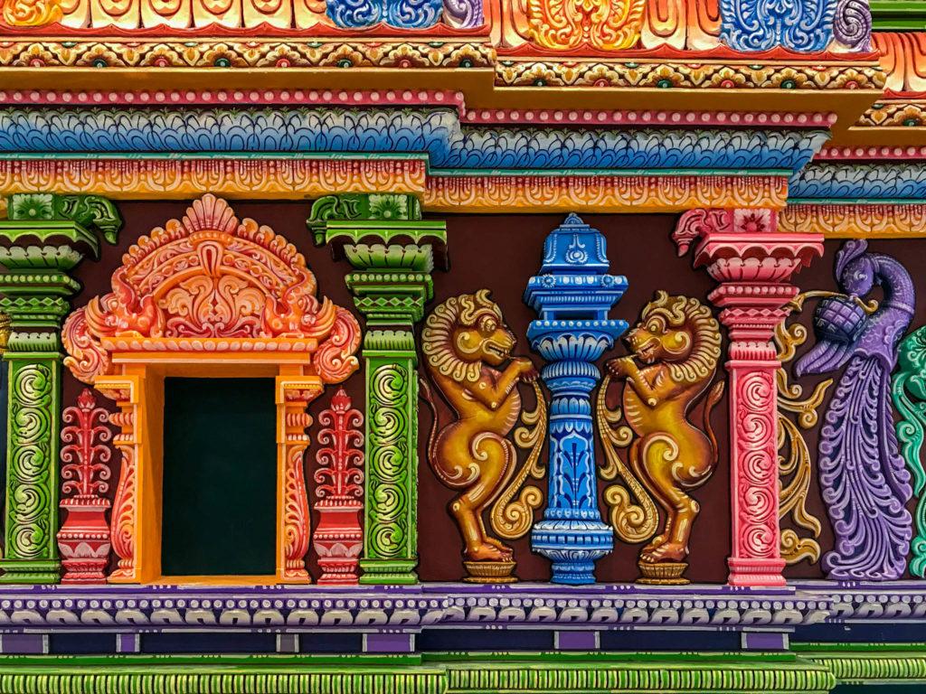 Ornements du temple hindou