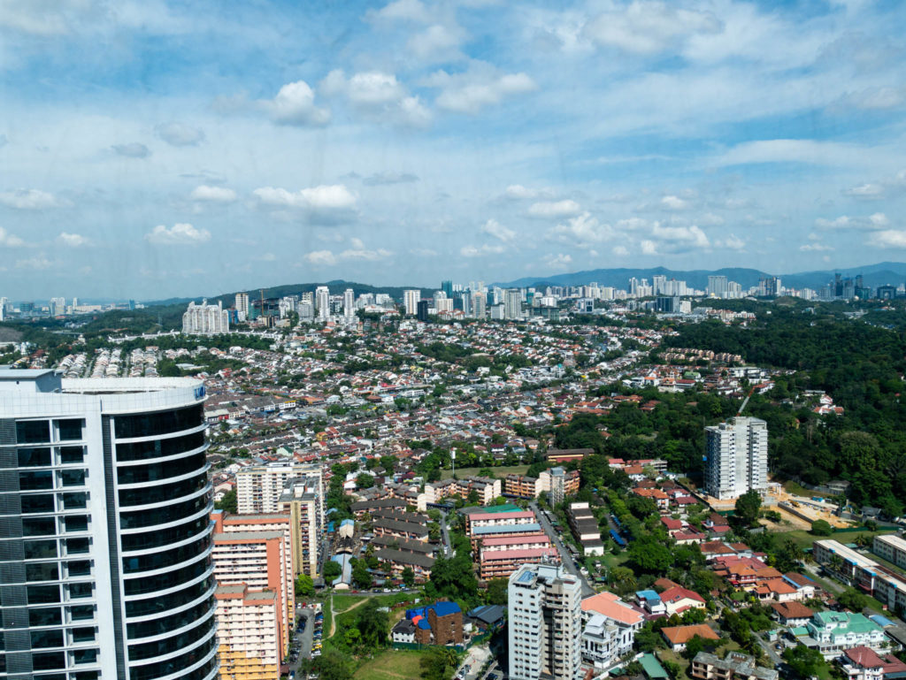 La vue depuis le 41ème étage