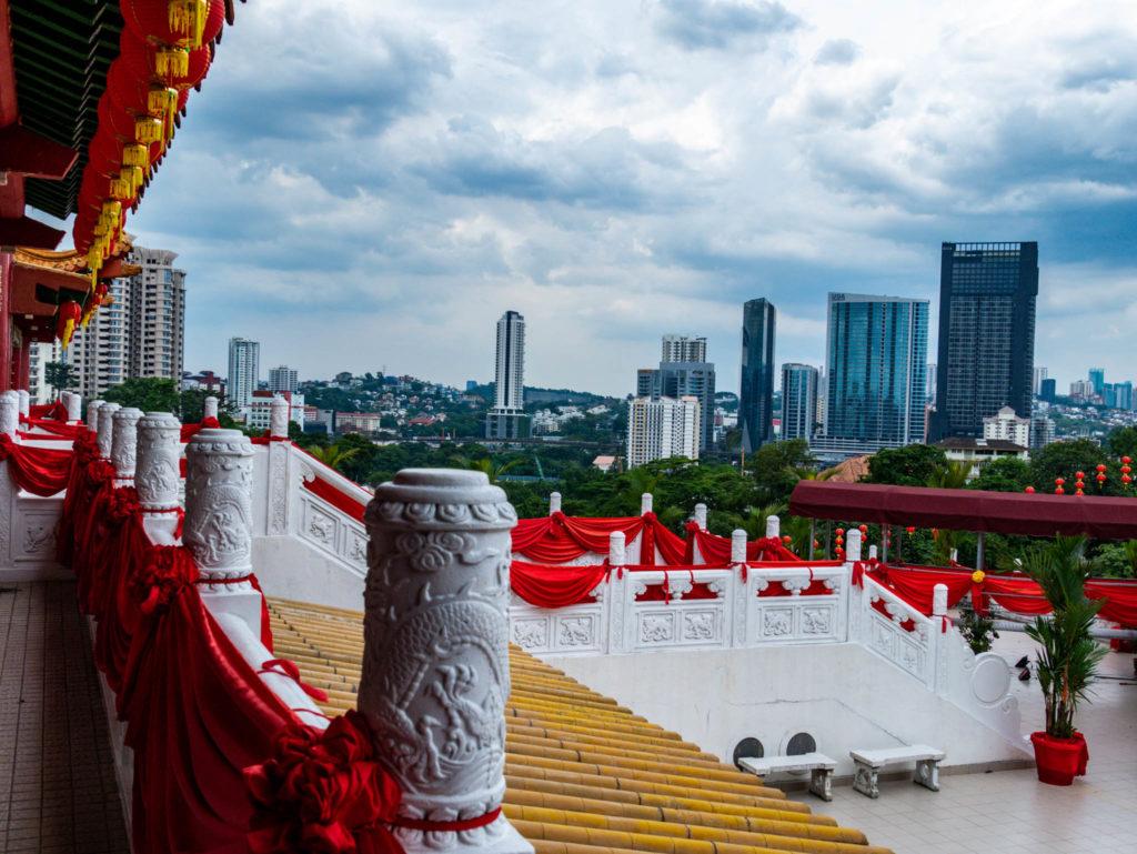 Vue de la ville depuis le temple