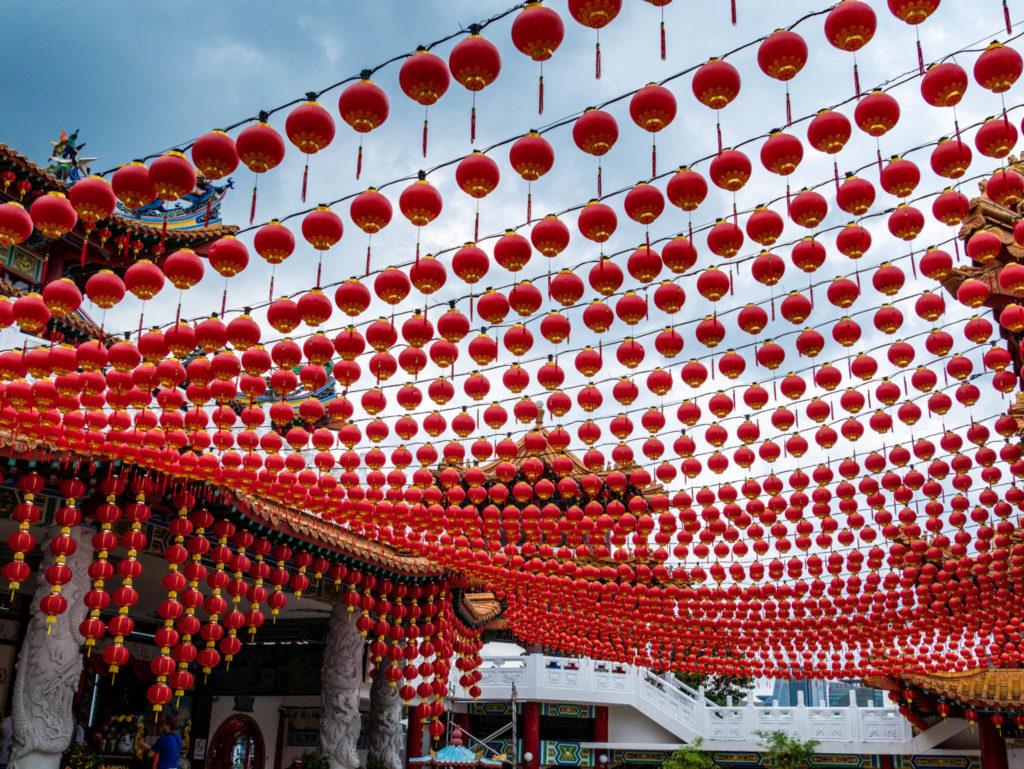Les centaines de lanternes