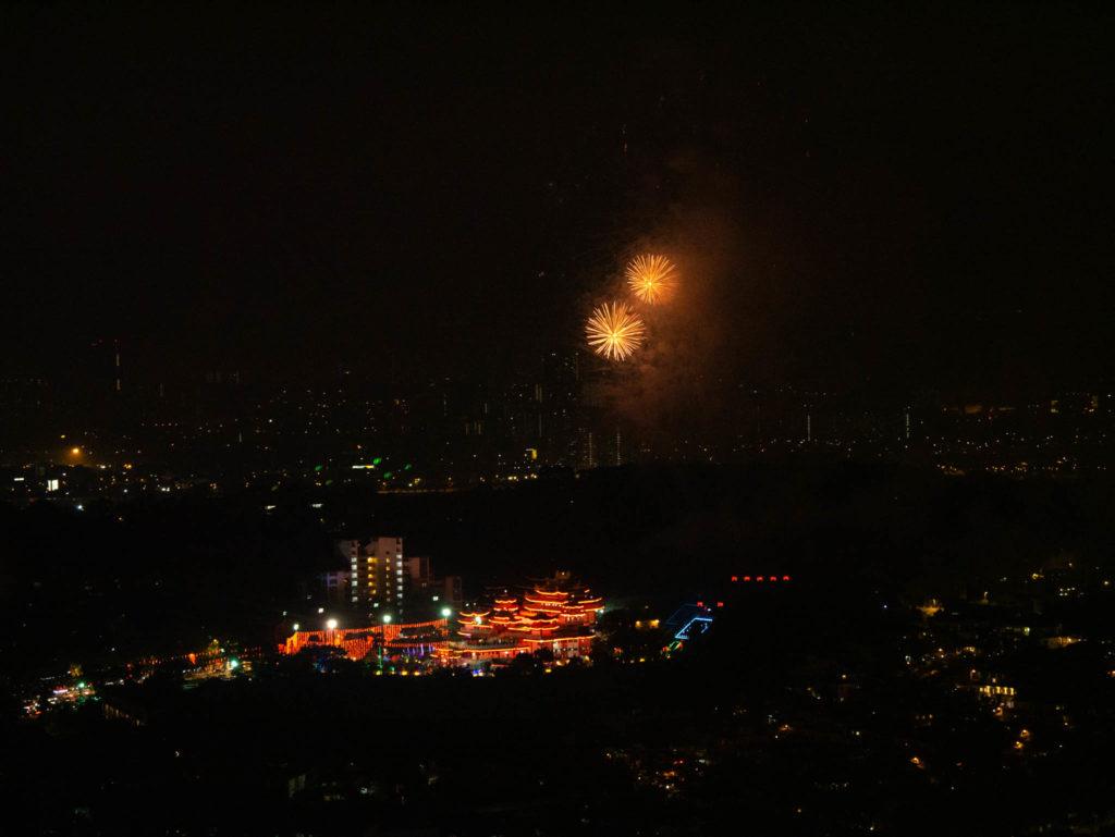 Le feu d'artifice du nouvel an