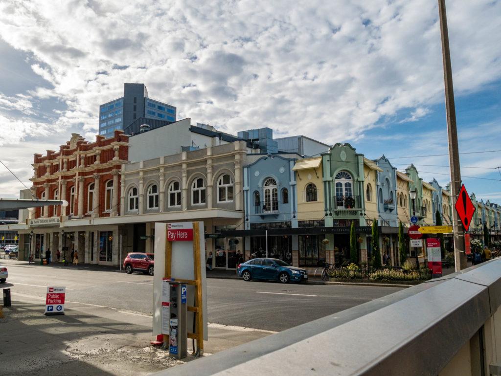 Les rues de Christchurch