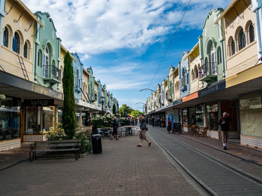 La rue principale de Christchurch