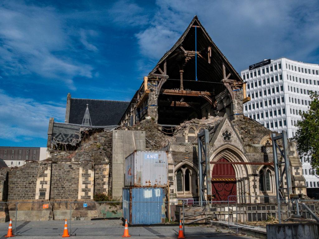 Les restes de la cathédrale