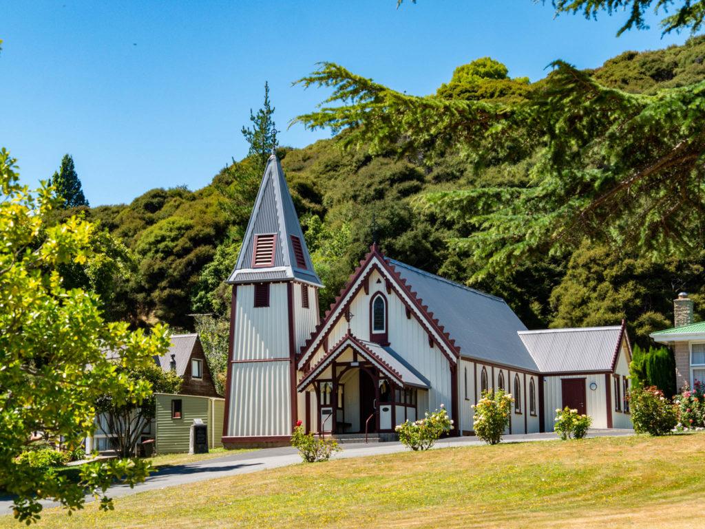 L'église catholique d'Akaroa