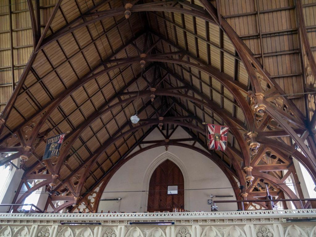 L'intérieur de la première église d'Otago