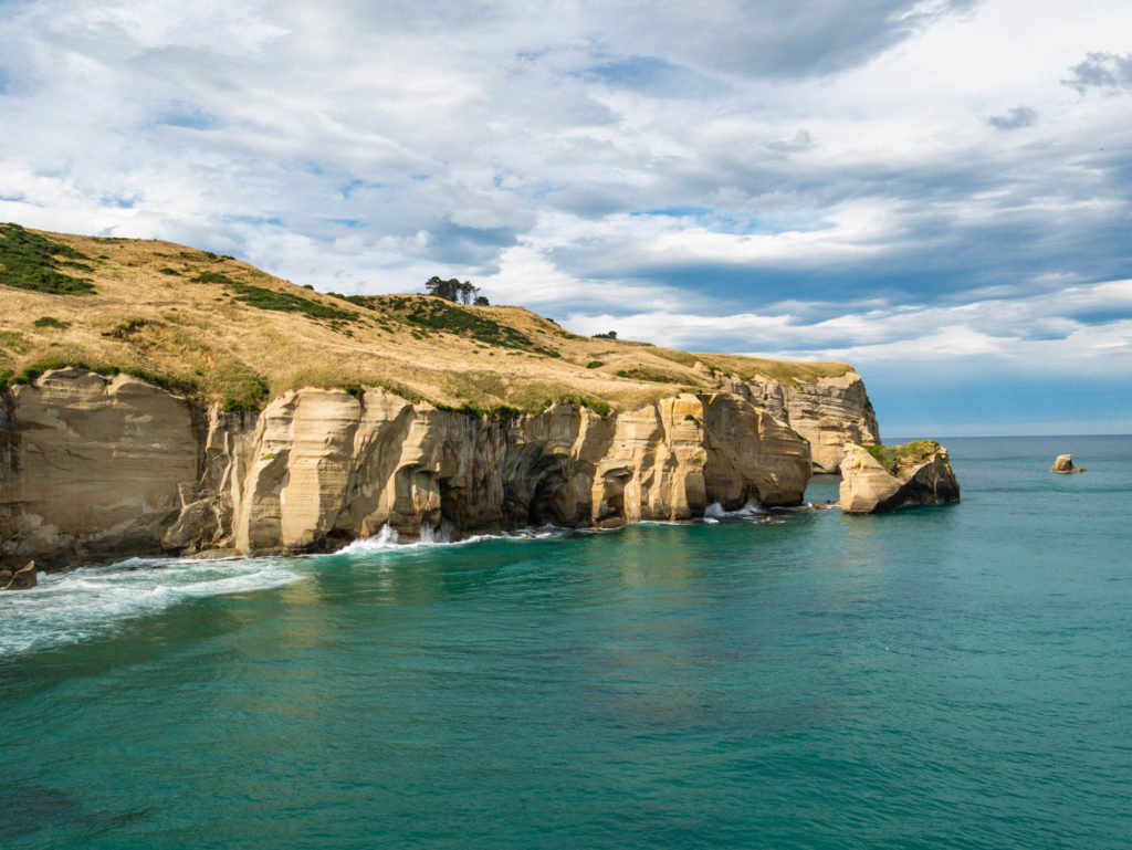 Les falaises de tunnel beach