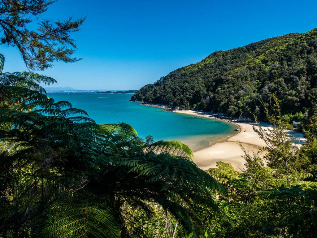Une des nombreuses plages d'Abel Tasman