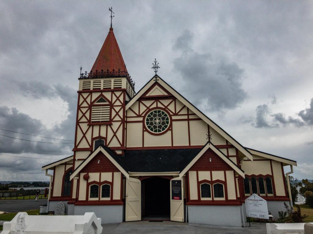 L'église du village maori