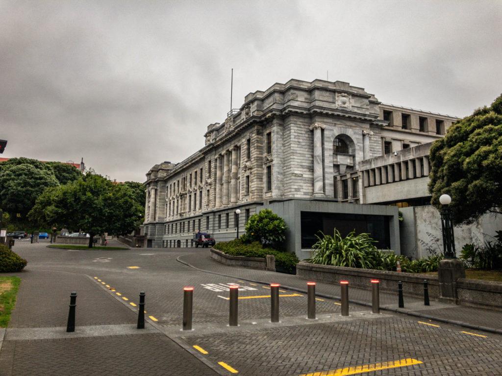 L'entrée du parlement