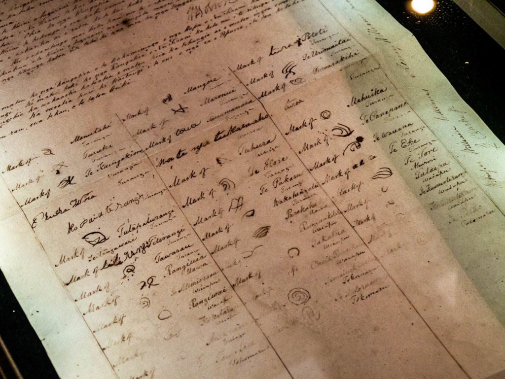 Le traité de Waitangi