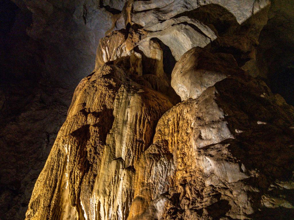 Une des formations de la grotte