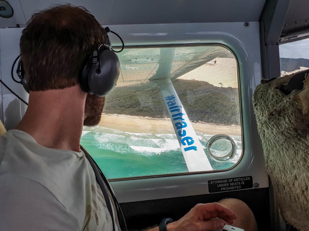 Un petit vol au dessus de Fraser Island